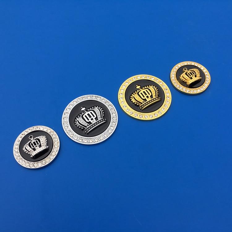 Metal Crown Luxury VIP Auto Car Silver Emblem Car Badge Decal Sticker Mortocycle