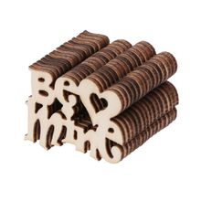 15Pcs Wooden Be Mine Table Confetti Scatter Vintage Rustic Wedding Party Decor Craft Scrapbook Decorations