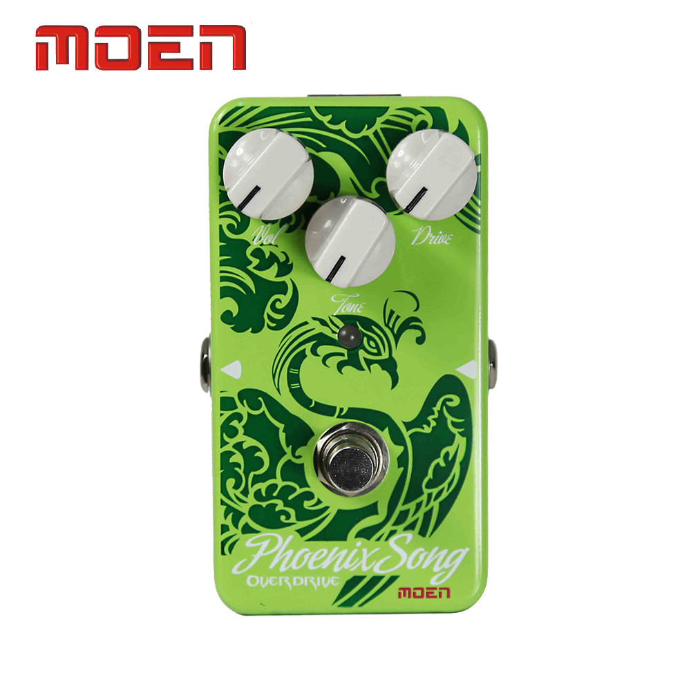 Moen AM-OD Phoenix Song Overdrive Electric Guitar Effect Pedal True Bypass Design aroma adr 3 dumbler amp simulator guitar effect pedal mini single pedals with true bypass aluminium alloy guitar accessories