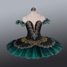La esmeralda feminino panqueca bailarina prato palco traje tutu saias para adulto profissional ballet tutus ponto dança traje
