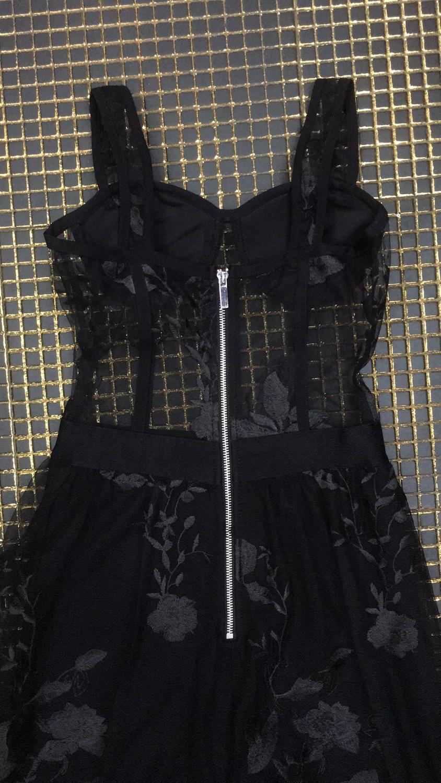 8034 Backless Spaghetti Dentelle Sexy Noir De Celebrity Femmes Con See Corps Style En Nouveau Partie Robe Gros Strap Soirée Robes through C5w5rHq