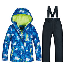 Ski jacket and pant children's brand high quality children windproof waterproof snow suit winter boy ski and snowboard jackets