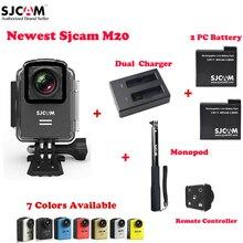 M20 original sjcam wifi 30 m cámara de acción deportiva impermeable sj cam dv + 2 batería + cargador doble + monopod con mando a distancia