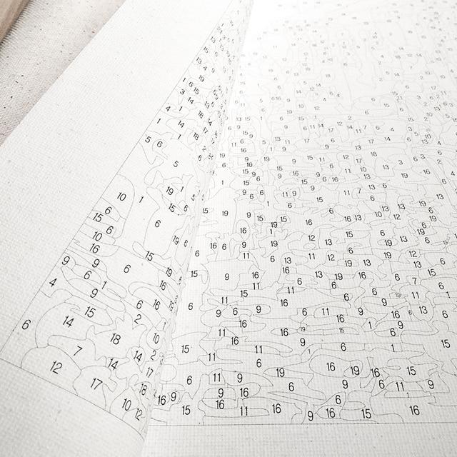 Фото набор для рисования по номерам на холсте с цветком кофе