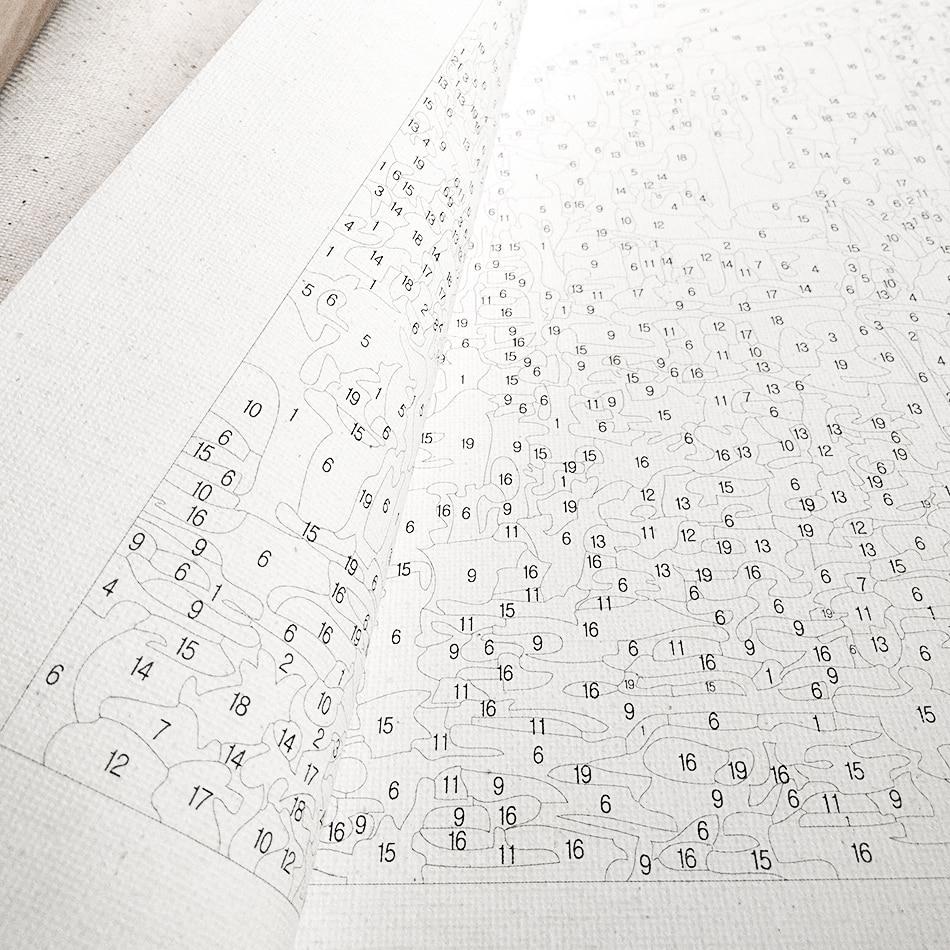 Купить набор для рисования по номерам на холсте танцоры 3 шт