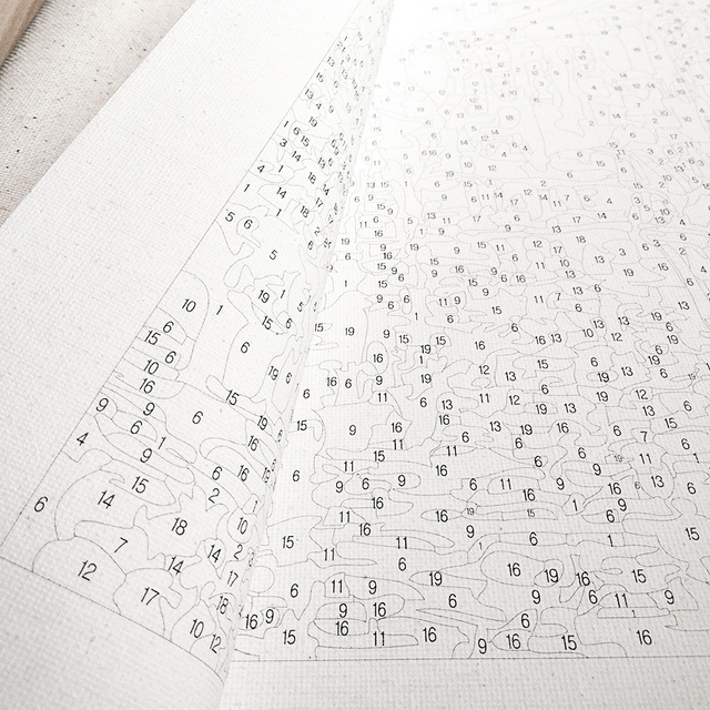 Фото chenistory рамка diy для рисования по номерам осенняя пейзаж
