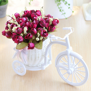 Image 5 - מתנת חג אהבת ראטאן אגרטל + פרחי מטרים אביב נוף עלה מלאכותי פרח סט בית חתונת קישוט יום הולדת מתנה
