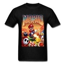Марио футболка человек Doom Cool конструкции с круглым вырезом из хлопка и изображением из мультфильма, футболки для детей, уличная Стиль модная одежда размера плюс футболка