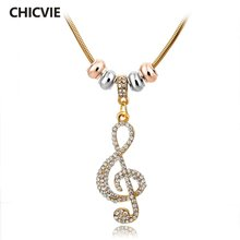 Chicvie Длинные свадебные ожерелья золотого цвета с бусинами