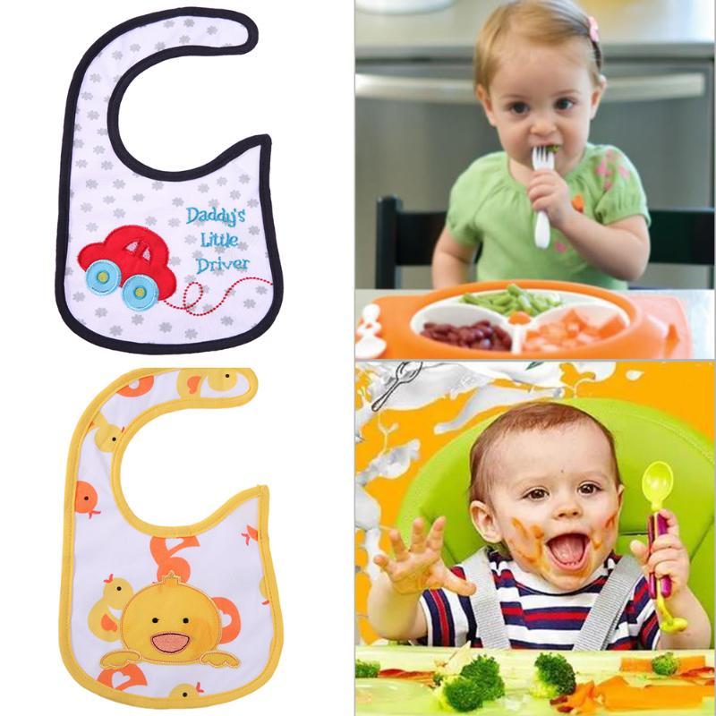 Baby Infant Bib Cute Cartoon Pattern Print Waterproof Saliva Towel Waterproof Saliva Towel Burp Cloths Feeding Baby