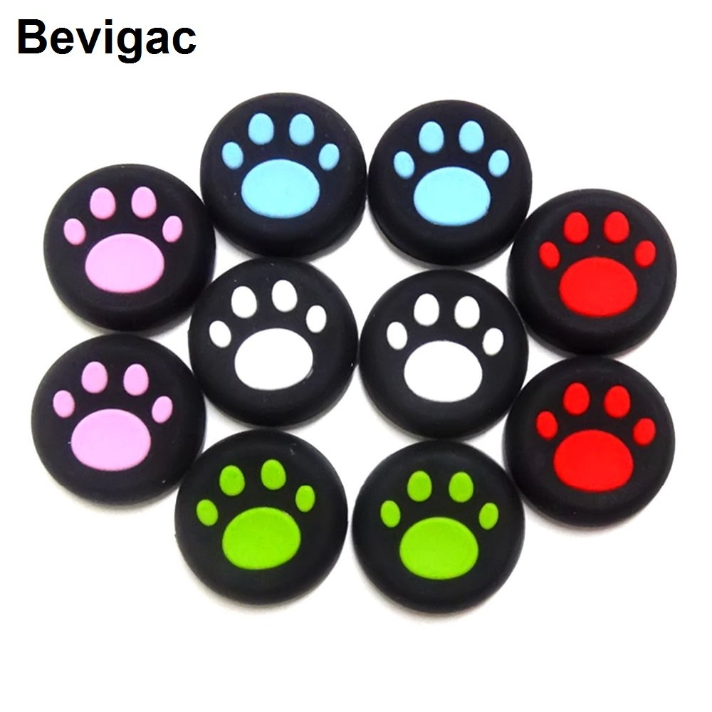Bevigac 8pcs Silicone Controller Thumb Stick Grip Cap Cover Case for Sony Play Station PS Dualshock 4 PS3 Microsoft Xbox One 360