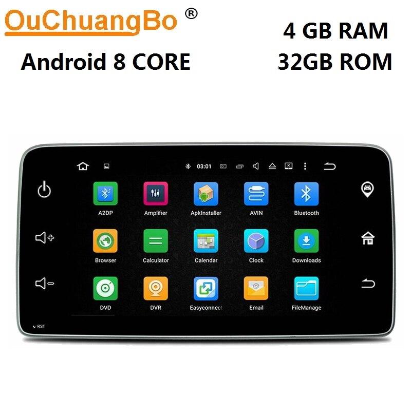 Ouchuangbo 9 pouces radio gps navigation android 8.0 multiemdia lecteur pour Mercedes Benz smart 2015 2016 avec USB 8 core 4 GB + 32 GB