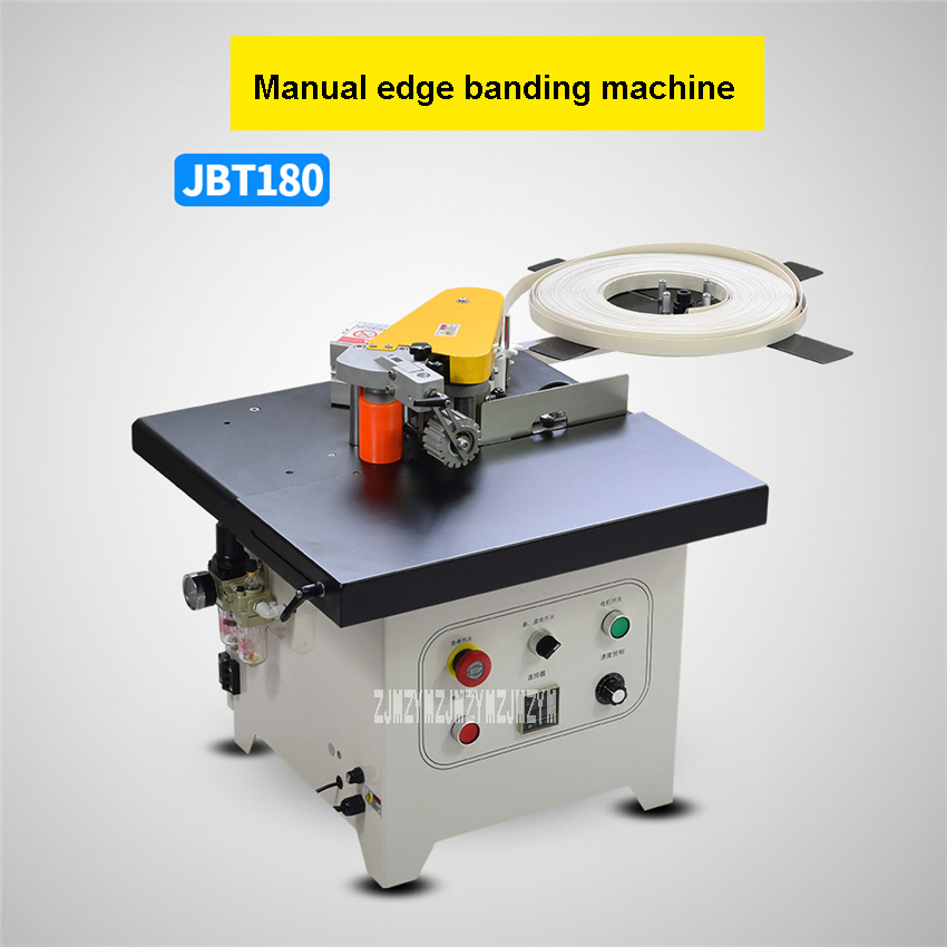 US $963 9 10% OFF|JBT180 Manual Edge Banding Machine Small Woodworking Edge  Bander Straight Curve Plate Edge Banding Machine 110V/220V 1000W 600ml-in
