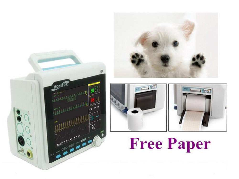 FDA&CE Veterinary Patient Monitor Vital Signs 6 Parameters with Printer CMS6000 ce vet veterinary icu patient monitor 6 parameters contec cms6000 etco2 printer