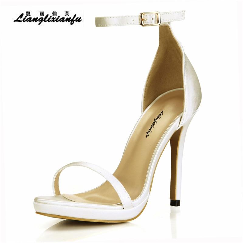LLXF stilettos Summer Gladiator 12cm Thin Heels shoes woman Ankle Strap SM Pumps Party sandals Peep Toe sandalias Plus:35-42 43LLXF stilettos Summer Gladiator 12cm Thin Heels shoes woman Ankle Strap SM Pumps Party sandals Peep Toe sandalias Plus:35-42 43