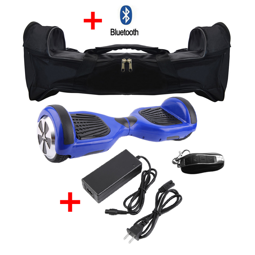 Cimiva 6.5 Inch Smart Hoverboard With Bluetooth Speaker 2 Wheels Scooter Electric Gyroscooter Oxboard with Lock Carry Bag