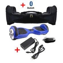 Cimiva 6.5 Cal Inteligentny Gyroscooter Oxboard Hoverboard Z Bluetooth Głośnik 2 Koła Skuter Elektryczny z Zamek Torba Do Przenoszenia