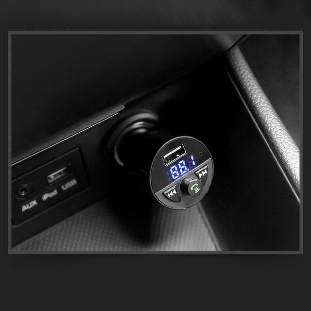 Car Charger Bluetooth MP3 Music Player Support TF Card U Disk MP3 WAV WMA FLAC APE CVC Noise Suppression Auto FM Transmitter