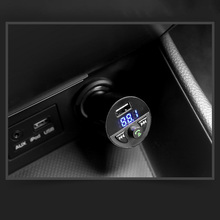 자동차 충전기 블루투스 MP3 음악 플레이어 지원 TF 카드 U 디스크 MP3 WAV WMA FLAC APE CVC 소음 억제 자동 FM 송신기