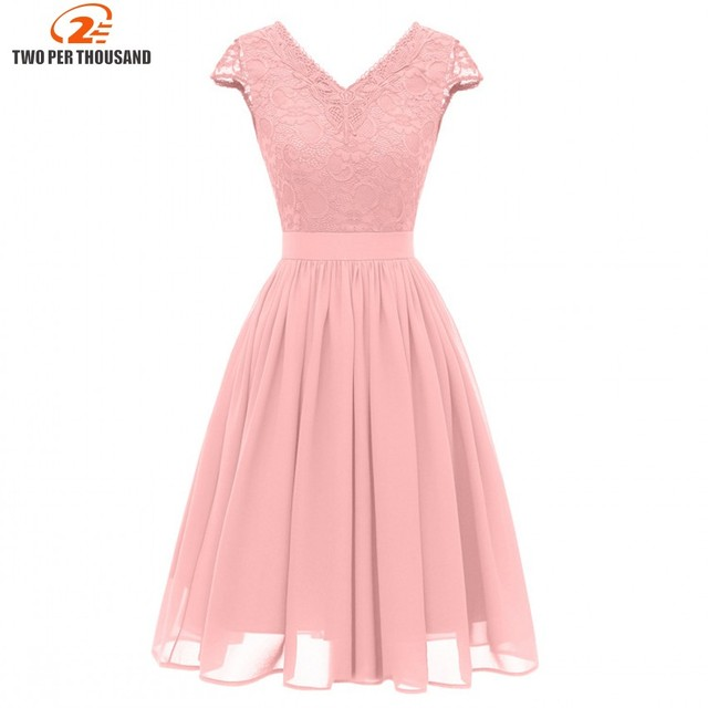 Christmas Vestidos Lace Dress Elegant Women Short Prom Office Slim Party  Dresses Summer 2019 Casual Beach Dress da765d13a3ef
