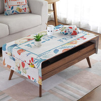 Europe tablecloth Cotton and linen art oil proof tea table tablecloth small fresh with pocket table cloth TV cabinet cover cloth