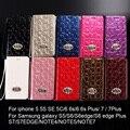 Coachs marca de luxo de alta qualidade de couro carteira case para apple iphone 7 6 6 s plus 5S 7 plus s5 s6 s7 borda note5 telefone genuína saco