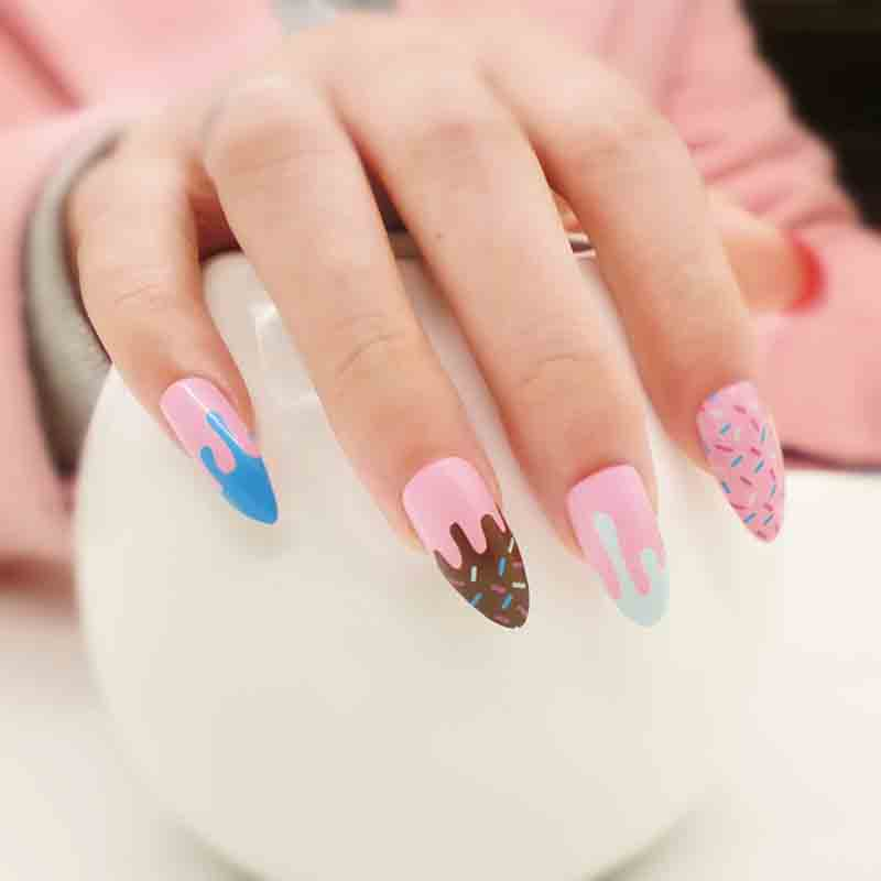 Venta al por mayor 24 sets de uñas de estilete de moda cubierta - Arte de uñas - foto 6