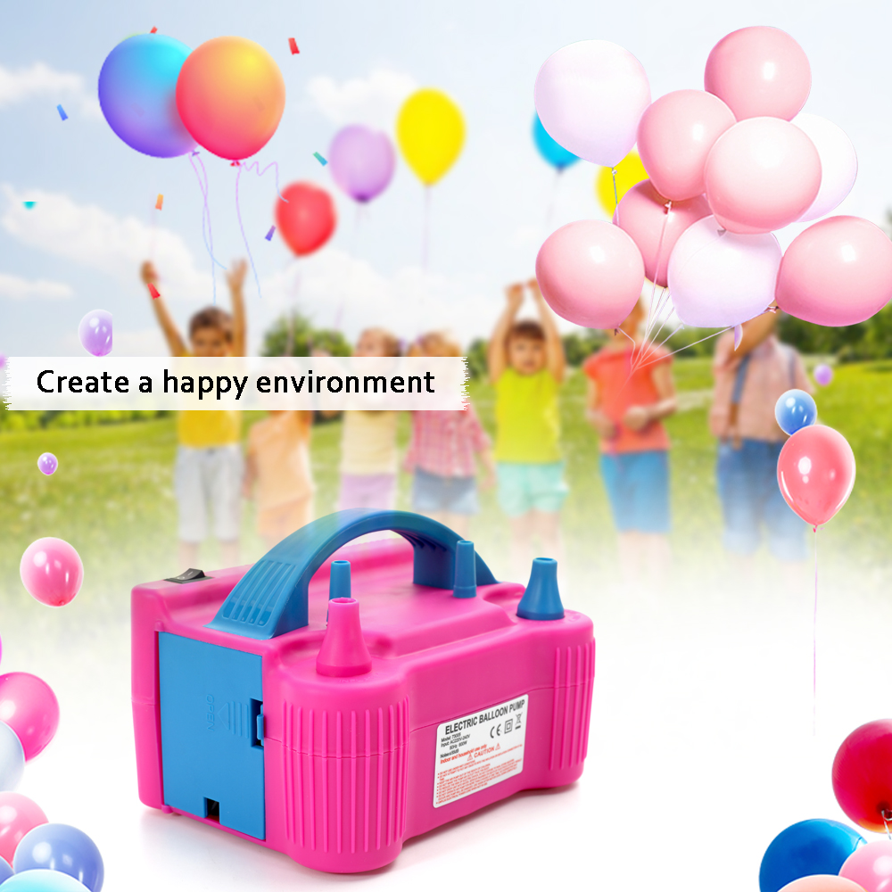 KKMOON Electric High Power Inflating Two Nozzle Air Blower Fast Portable Inflatable Tool Electric Balloon Inflator Pump