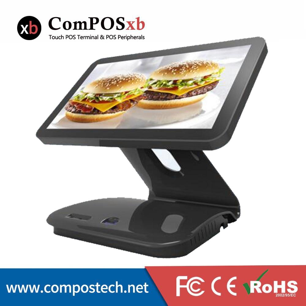 Brezplačna dostava 15,6-palčna blagajna na dotik Pos sistemska oprema Gotovinska blagajna Vse v enem POS računalniku z VFD zaslonom