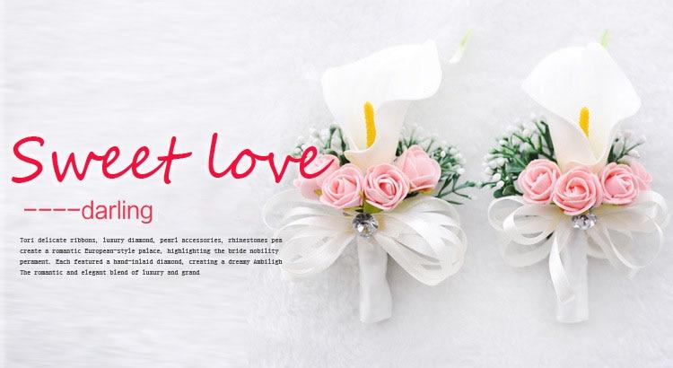 white wedding wrist corsage boutonnieres roses  (6)