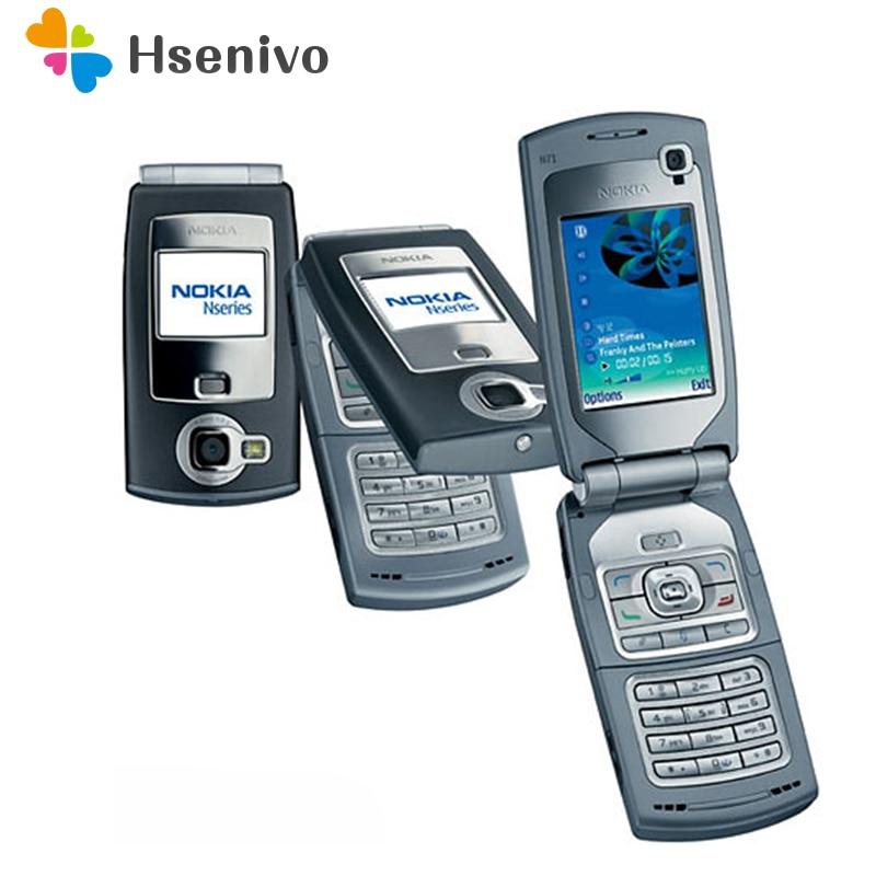 N71 100% Оригинальный разблокированный мобильный телефон Nokia N71 Flip 2,4 дюймов GSM 2G/3g Symbian OS с гарантией один год бесплатная доставка