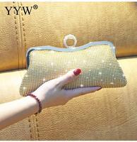 0534e0489 Women Rhinestone Evening Clutch Bags Mini Shiny Silver Party Luxury  Clutches Bag Gold Female Handbag Purse