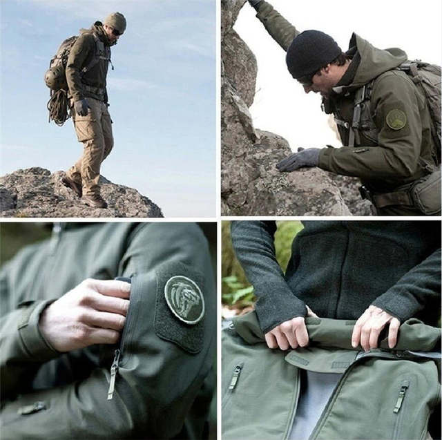Military Windproof Tactical Jacket Men Waterproof