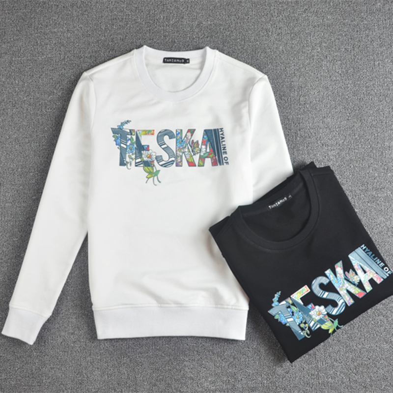 Casual Women's Tops Sweatshirts For Ladies Autumn New Arrival Womens Multicolor Round Neck Long Sleeve Color Letter Sweatshirt