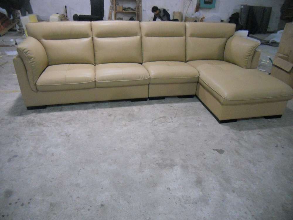 JIXINGE leather living room corner sofa L shape sofa Quality craftsmanship and design appeal all go hand in hand with this sofa.(China (Mainland))