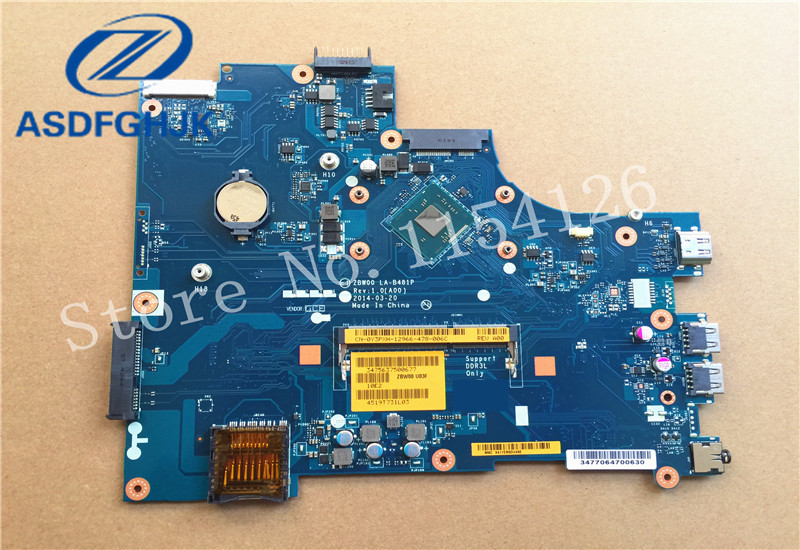 bilder für CN-0Y3PXH Y3PXH 0Y3PXH laptop motherboard für Dell Inspiron 15-3531 mainboard LA-B481P N3530 CPU NEUE