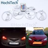 For Mazda 3 mazda3 2002 2003 2004 2005 2006 2007 Multi color Led Angel Eyes Kit RGB Halo Rings Daytime Running Light DRL