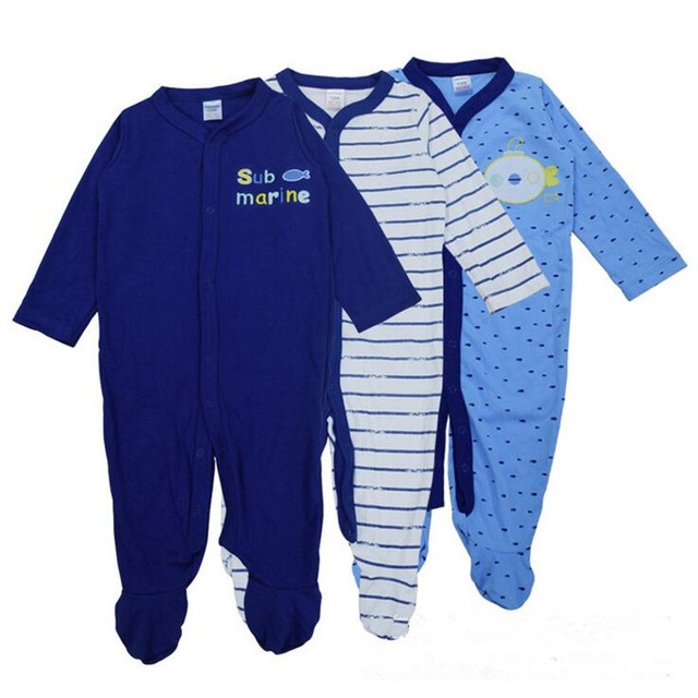 cb9d7c9a792f Newborn Baby Boy Girl Rompers 3pcs sets Baby Long Sleeve Unisex One ...