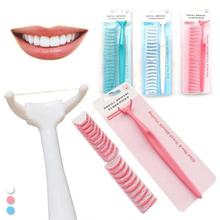 602dc09e9 20 pcs Unisex Hastes de Fio Dental Palito de Plástico de Saúde Oral Dentes  Limpos Cuidados