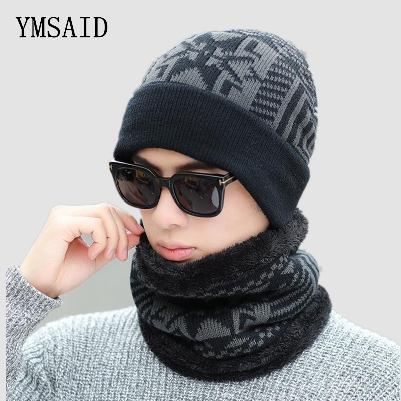 Ymsaid 2018 Winter Knitted Hat   Beanies   Men Women Scarf Caps Mask Gorras Bonnet Warm Winter Hats For Men   Skullies     Beanies   Hats