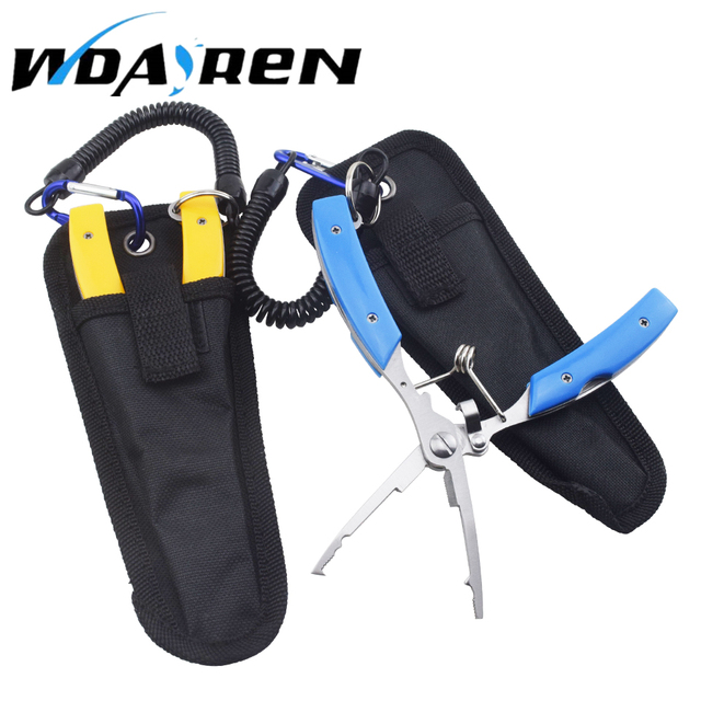WDAIREN Multitool Fishing Pliers Multi Tool Mini Portable Folding Stainless Steel Scissors Line Cutter Remove Hook Fishing Tools