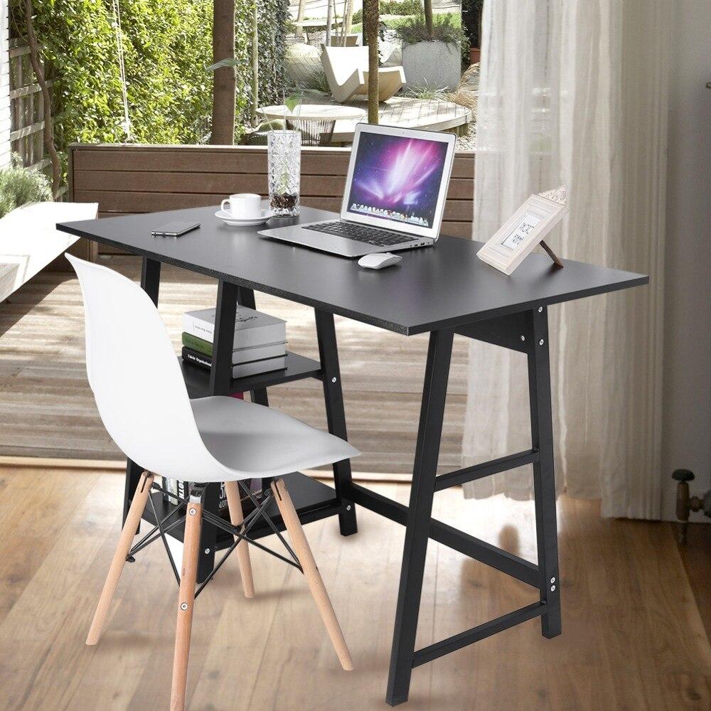 Многофункциональным ноутбук стол компьютерный стол для хранения таблицы стеллажи, книжные полки Тетрадь стол для Офис Черного цвета; Беспл...