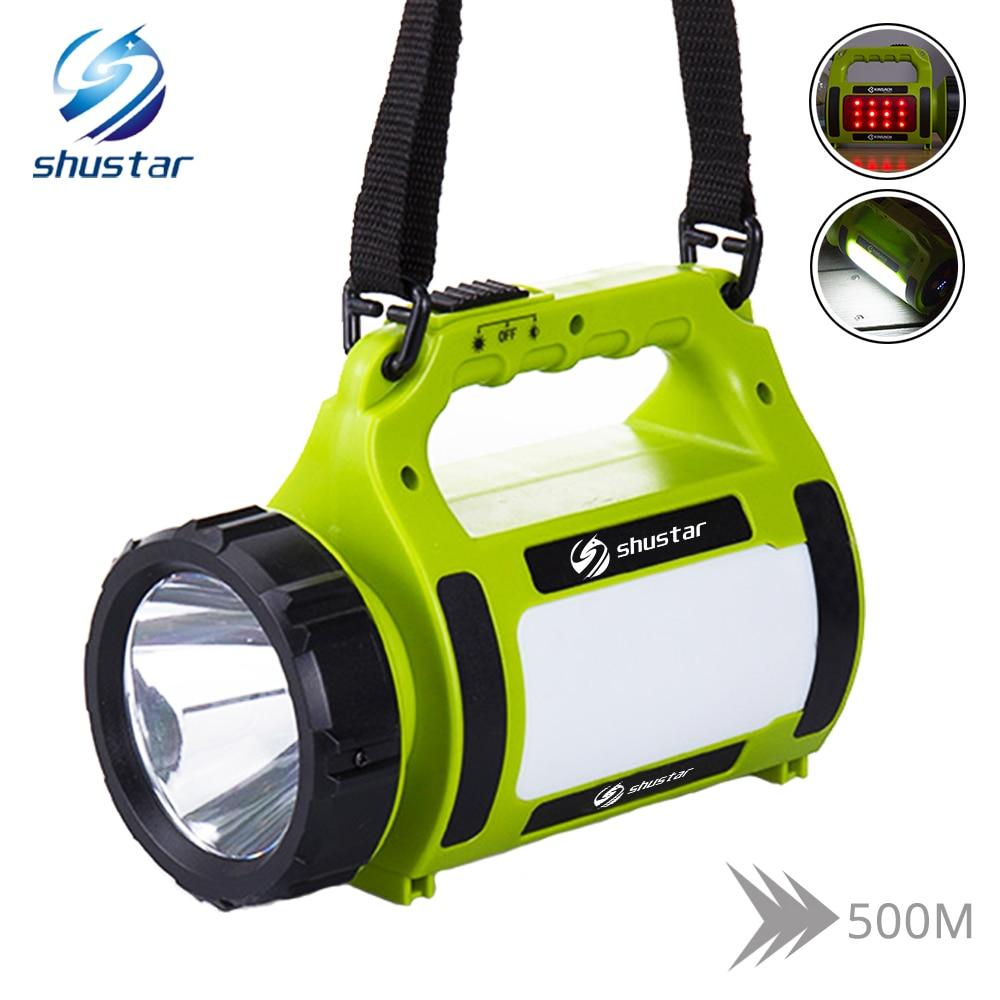 High power LED Flashlight Searchlight Spotlight 20000 lumens torch camping light Side red light + white light 5 lighting modes