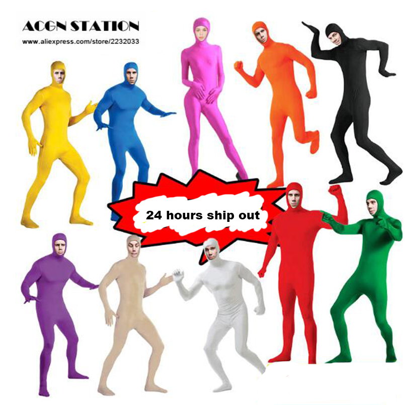 Zentai suit Open Face Skin Suit Catsuit Halloween Costumes Adult Bodysuit Unisex unitard customized unitard Stage unitard