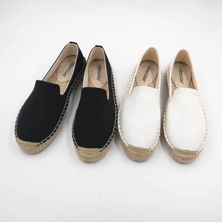 2019 New Fashion Embroidery Comfortable Palform Ladies Womens Casual Espadrilles Shoes Breathable Flax Hemp Canvas for Girls 3