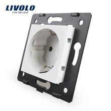 Livolo Разъем diy части, белые пластиковые материалы, стандарт ЕС, функциональный ключ для розетки ЕС, VL-C7-C1EU-11