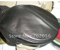 Newsboy Beret Real Leather Style Flat Cap ear warmerHat DEC Cabbie Gatsby #2269