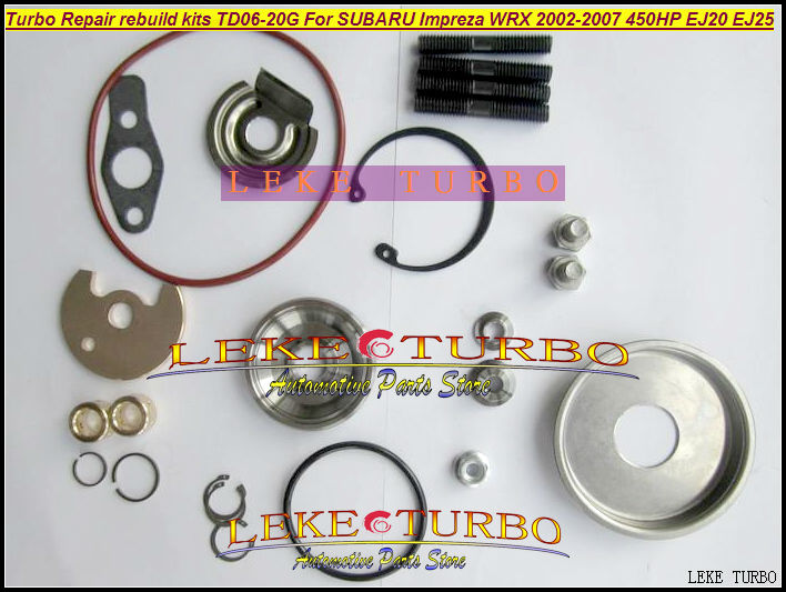Turbo Repair Kits rebuild kit TD06 20G TD06-20G TD06-20GHW For SUBARU Impreza WRX 2002-07 MAX HP 450HP Engine EJ20 EJ25  hosingtech for subaru impreza wrx grb ej25 07 ver 10 silicone turbo kit