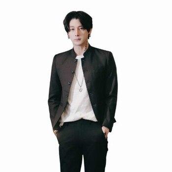 caecad9e5 1/6 escala de los hombres negro Zhongshan traje túnica traje de un héroe de  artes marciales Donnie ...