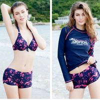 3 pieces a set bikini New Bikinis Kit Swimwear Sunscreen clothing bathing suit swimsuit women smock maillot de bain femme